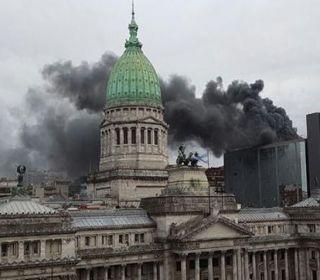 Incendio en el anexo de la Cámara de Diputados
