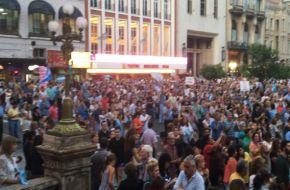Unas 2000 personas marcharon a favor del gobierno en Tucumán