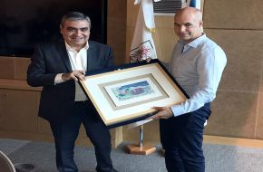 El intendente Germán Alfaro y el jefe de Gobierno de la Ciudad de Buenos Aires Horacio Rodríguez Larreta firmaron un convenio