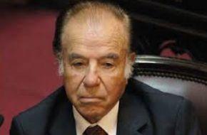 Menem confirmó que será candidato a senador a los 87 años